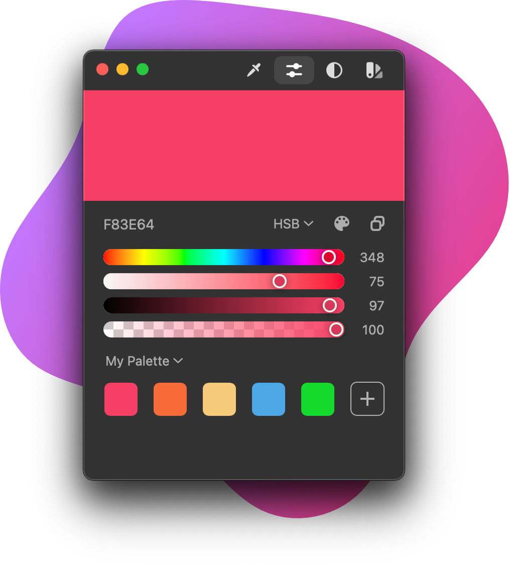 ColorSlurp app interface